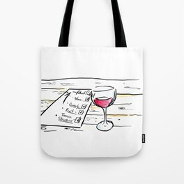"""Somm into the bottle chapter 7 """"The point scores"""" Tote Bag"""