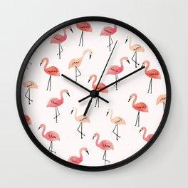 Flamingo Fun Wall Clock