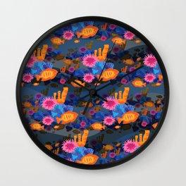 underwater oranges Wall Clock