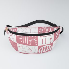 Kandinsky - White and Rose Pattern - Abstract Art Fanny Pack