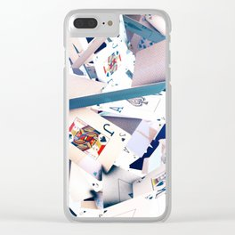 Flying playing cards Clear iPhone Case