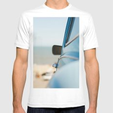 The blue car MEDIUM White Mens Fitted Tee