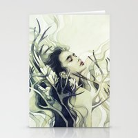 stag Stationery Cards featuring Stag by Anna Dittmann