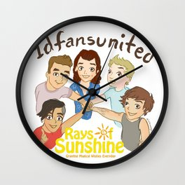 1D fans united to raise money for Rays of Sunshine! Wall Clock