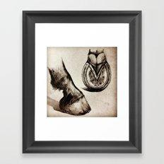 Horse Feet Framed Art Print