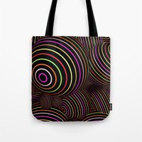 funky Tote Bags featuring Funky Balls by MehrFarbeimLeben