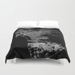 san diego map Duvet Cover