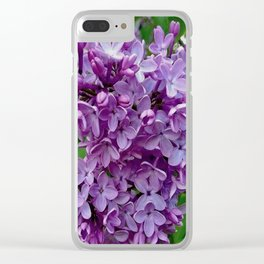 Lilac Blooms Clear iPhone Case