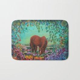 Horse in the Field Bath Mat