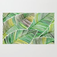 tropical Area & Throw Rugs featuring Tropical Green by Cat Coquillette