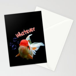 Whatever Bad Attitude Oranda Goldfish Stationery Cards