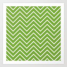 Lime Chevron Art Print