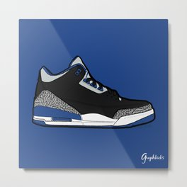 "Air Jordan III ""Sport Blue"" Metal Print"