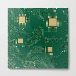 Microcircuit Metal Print