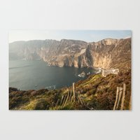 league Canvas Prints featuring Slieve League by Marie Carr