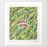 Wild Thing – Green Palette Art Print