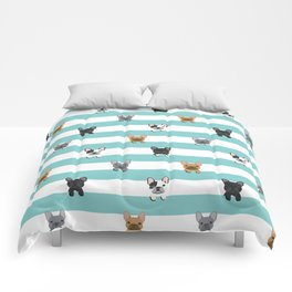 French Bulldog stripes Comforters