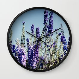 Delphinums, fairbanks alaska Wall Clock