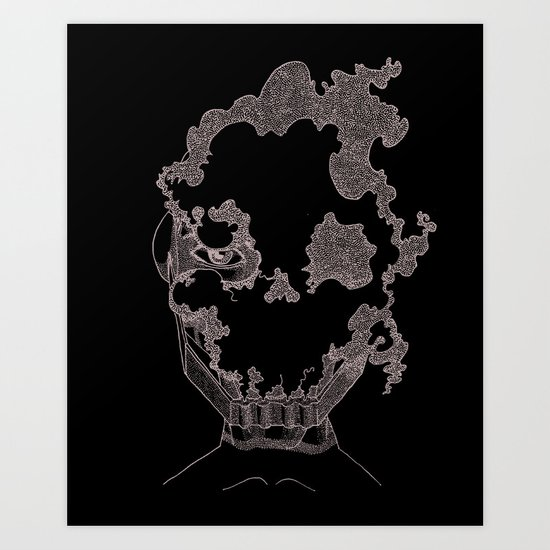 Masque de l'Air (Air Mask) Art Print
