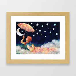 Luna de papel Framed Art Print