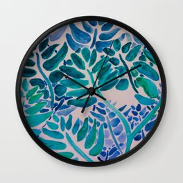 Mimosas in the Afternoon Wall Clock