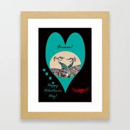 Happy Valentine's Day - Forever Love Birds Framed Art Print