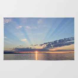A Seattle Sunset Rug