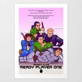 Ready Player One x The Breakfast Club Art Print