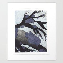 Purple Cherry Blossoms (3 of 3) Art Print