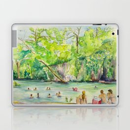 Krause Springs - historic Texas natural springs swimming hole Laptop & iPad Skin