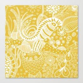Yellow nature Canvas Print
