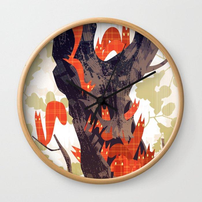 The Devils of Dark Bark Wall Clock