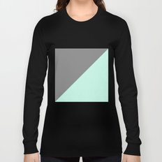 Grey and Mint Half Triangle Long Sleeve T-shirt