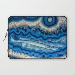 Blue wave Agate Laptop Sleeve