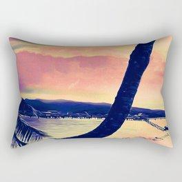 Tempest Island (Warmer Version) Rectangular Pillow