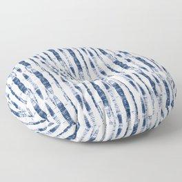 Shibori Stripes 2 Indigo Blue Floor Pillow
