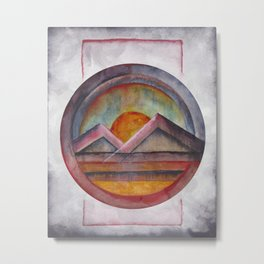 Geometric landscapes 02 Metal Print
