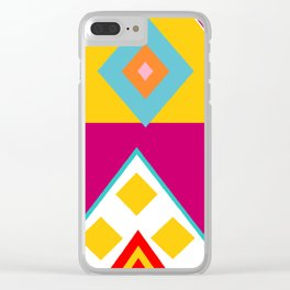 Mayan Print Clear iPhone Case