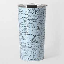 Physics Equations // Baby Blue Travel Mug