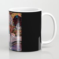 oriental Mugs featuring Oriental Houses  by  Rose Voutsas