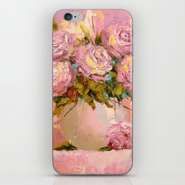 A bouquet of delicate roses iPhone Skin