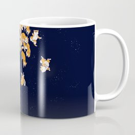 Shiba Inu The Great Wave in Night Coffee Mug