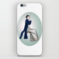 pride and prejudice iPhone & iPod Skins featuring Fashion Illustration - Pride & Prejudice by BeckiBoos