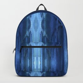 Tie and dye blue ornament Backpack