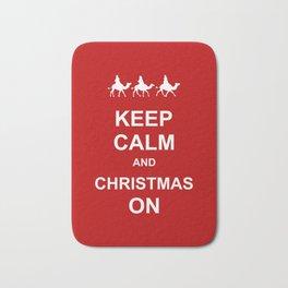 Keep Calm & Christmas On Bath Mat