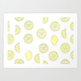 Sweet Citrus Mix Art Print