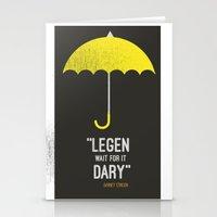 himym Stationery Cards featuring ''legen  wait for it  dary'' barney Stinson by :: Fan art ::