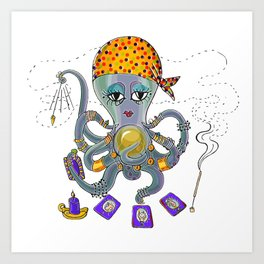 Fortune Teller Octopi Art Print