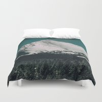 montana Duvet Covers featuring Winter In Montana by Kenna Allison