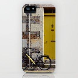 Yellow Door and Bike iPhone Case